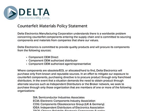 Resources Delta Electronics